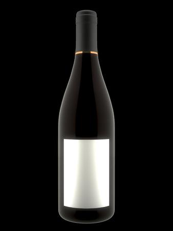 unopened: 3D Wine Bottle Stock Photo