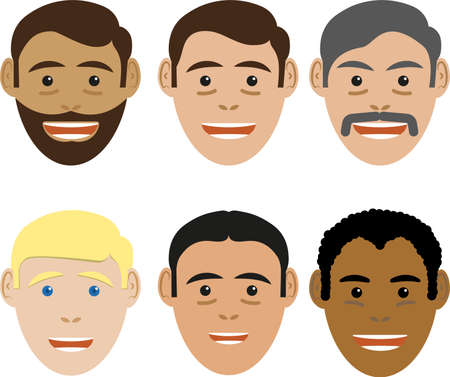 Set of avatars of characters
