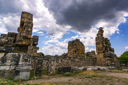 afrodita: Aphrodisias, the name of the goddess of love and beauty Aphrodisias, is an ancient city famous for its worship of Aphrodite especially during the Roman era and today it is one of the most important archaeological sites of Turkey with its well preserved mo Foto de archivo