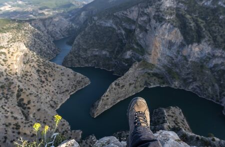 04/07/2019, Bozdogan, Aydin, Turkey, Interesting that the name and location with stunning views in mind, Turkey's new tourism point was Arapapisti Canyon