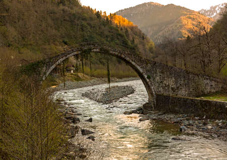 The Double Bridge on the road between Arili and Küçükköy was constructed with pointed arched, one-eyed and cut stone materials reflecting the traditional Black Sea architecture.