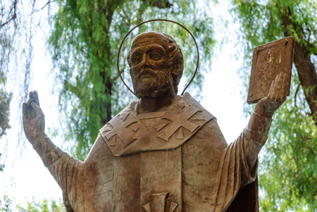 The statue of St. Nicholas in Demre Turkey in summer