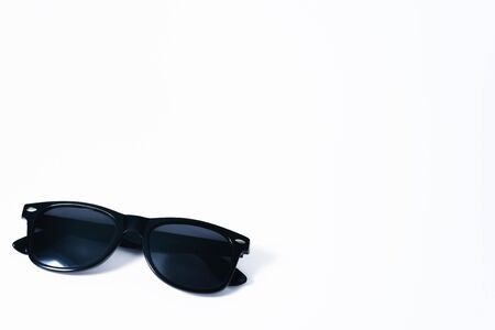 Black fashion sunglasses on a white background Stockfoto - 134847245