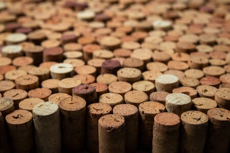 Many used wine corks, creative design background