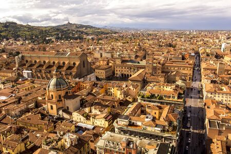 Bologna, Italy. Panoramic view from tower