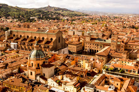 Bologna, Italy, panoramic view from tower