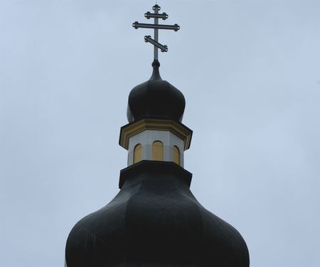 Close up of dome of Ukranian Orthodox Church in Winnipeg,Canada