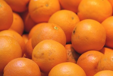 florida citrus: Batch of oranges ready for sale Stock Photo