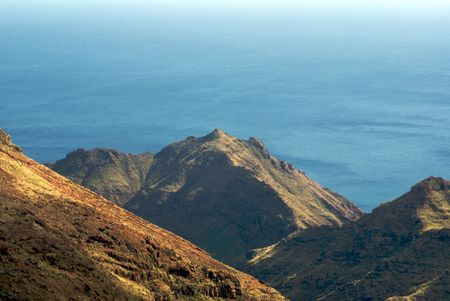 MOUNTAINS IN LA GOMERA,CANARY ISLANDS,