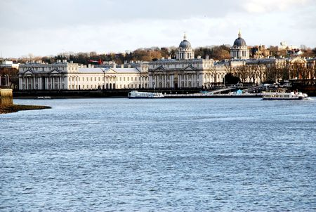 Buildings at Greenwich on the Thames
