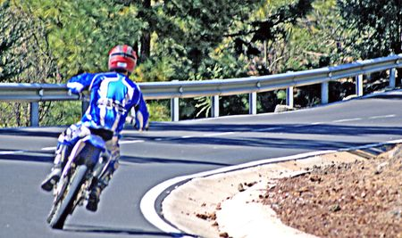 curve: Motorcycling on a curve
