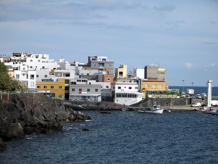 Small Fishing Village on the Atlantic ocean in Tenerife