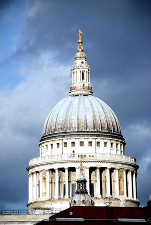 st pauls: Dome of St. Pauls Cathedral, one of the most noted Anglican Cathedrals Stock Photo