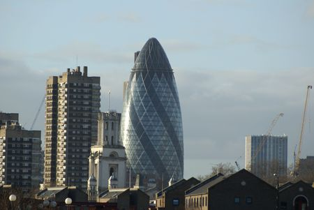 London skyline with forms of architecture Imagens
