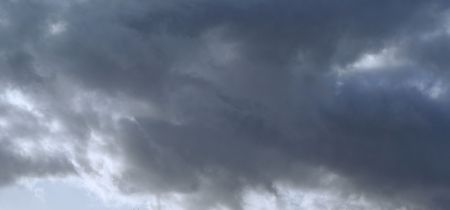 Puffy,dramatic clouds of grey,white and black Banco de Imagens
