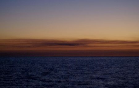 gulf of mexico: Dark Orange sunset in Florida on the Gulf of Mexico