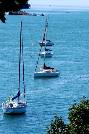 toward: sail boats toward mouth of Niagara River