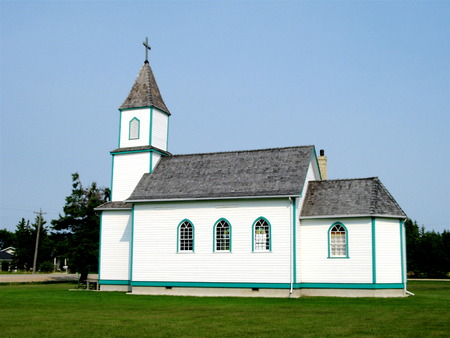 pioneers: Sts Cyril and Methodius Ukrainian Roman Catholic Church, a heritage church for pioneers rural Manitobal