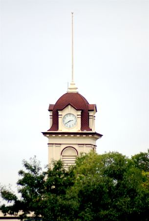 St Boniface Town Hall clock tower in Winnipeg Reklamní fotografie