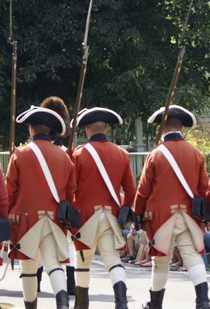enactment: Enactment soldiers from early american history