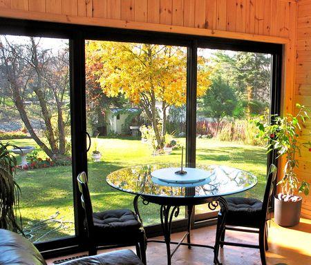 sunroom: bright sunroom on an autumn day