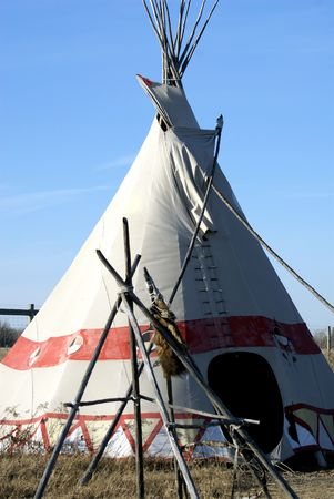 plains indian: Example of American Indian plains teepee