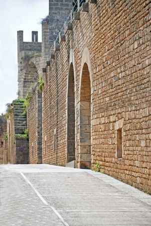 Old spanish conquest wall of Alcudia city