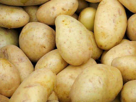 White potatoes at market Stock Photo