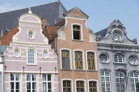 square: architecture in grand square of Mechelen,Belgium
