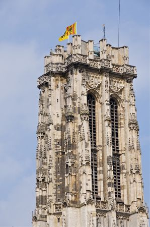 St Rumbold's Tower in Mechlen,Belgium, UNESCO site with new observation platform at top Banque d'images - 7072141
