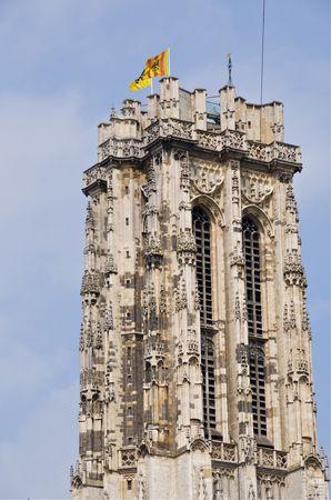 St Rumbolds Tower in Mechlen,Belgium, UNESCO site with new observation platform at top
