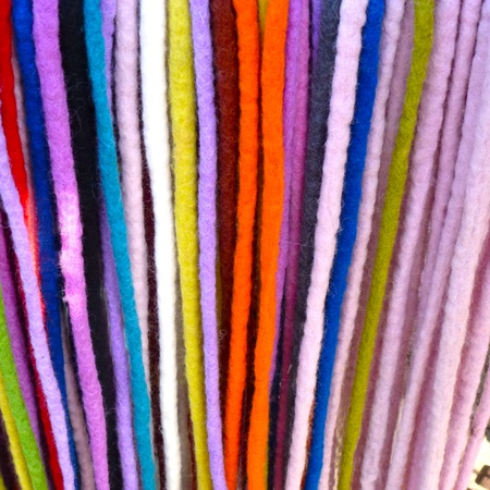 Strands of wool cord fabric