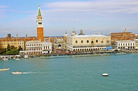 Overview of St  Mark s Square from the Grand Canal Stok Fotoğraf