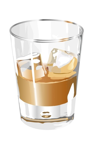 Liquor in the glass Illustration