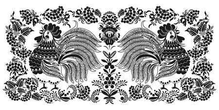 popular tale: Ð¡ocks in clusters of berries Illustration