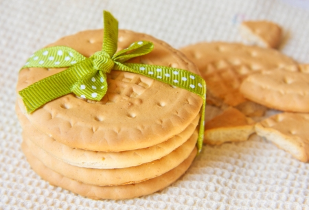 Cookies with ribbon Stock Photo - 14104680