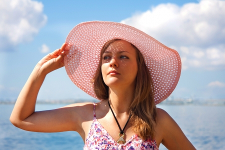 Portrait of the girl in hat Stock Photo - 15964792