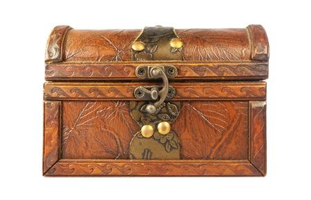 stash: Wooden box Stock Photo
