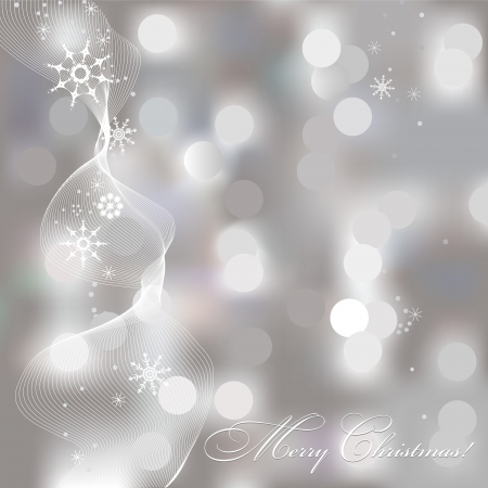 gleam: Abstract Christmas background with snowflakes Illustration