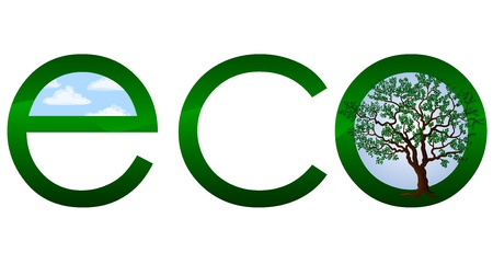 Ecological logo or emblem Vector