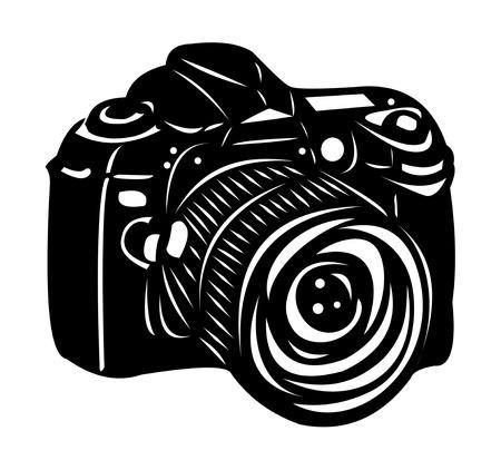 digital slr: Black digital camera