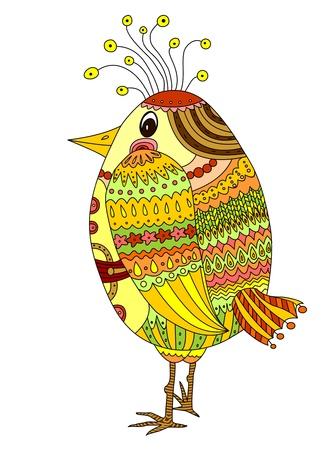 Drawing of a cute cartoon bird Stock Vector - 17214473