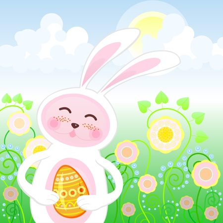 Easter rabbit Stock Vector - 17453786