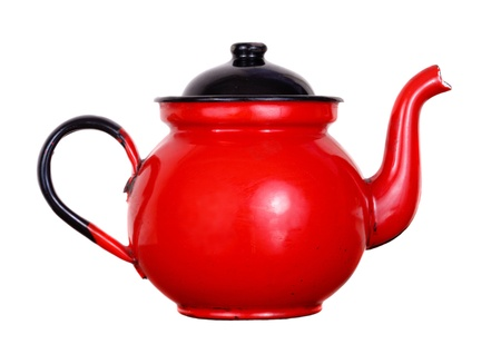 Red pot of tea