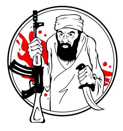 Terrorist Stock Vector - 19875245