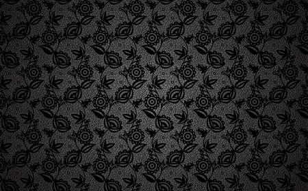 lace like: Black lace flower background Illustration