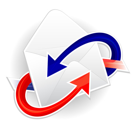 Symbol of incoming and outgoing correspondence