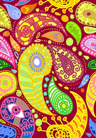 Vector illustration of seamless paisley pattern Vector