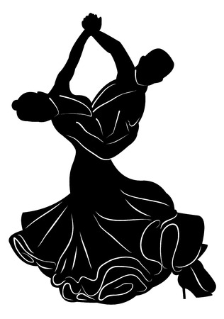 Silhouette of dancing couple
