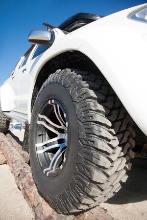 alloy wheel: Close up of rims car alloy wheel outdoor on a sunny day Stock Photo